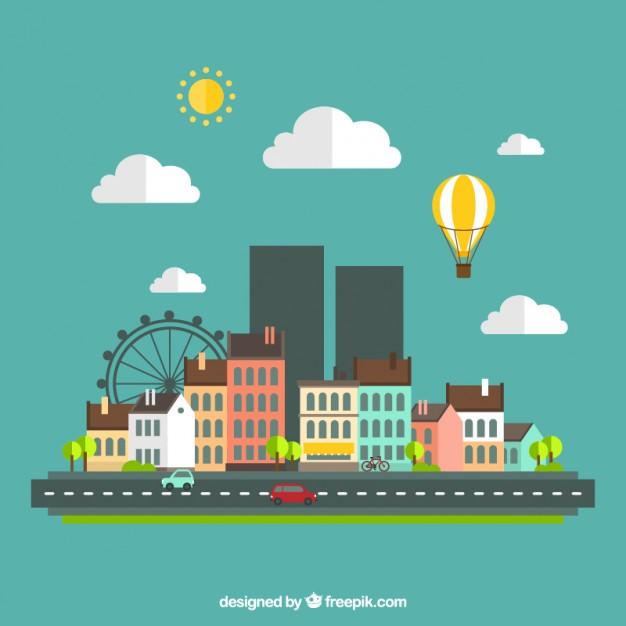 urban-landscape-in-flat-design_23-2147506625